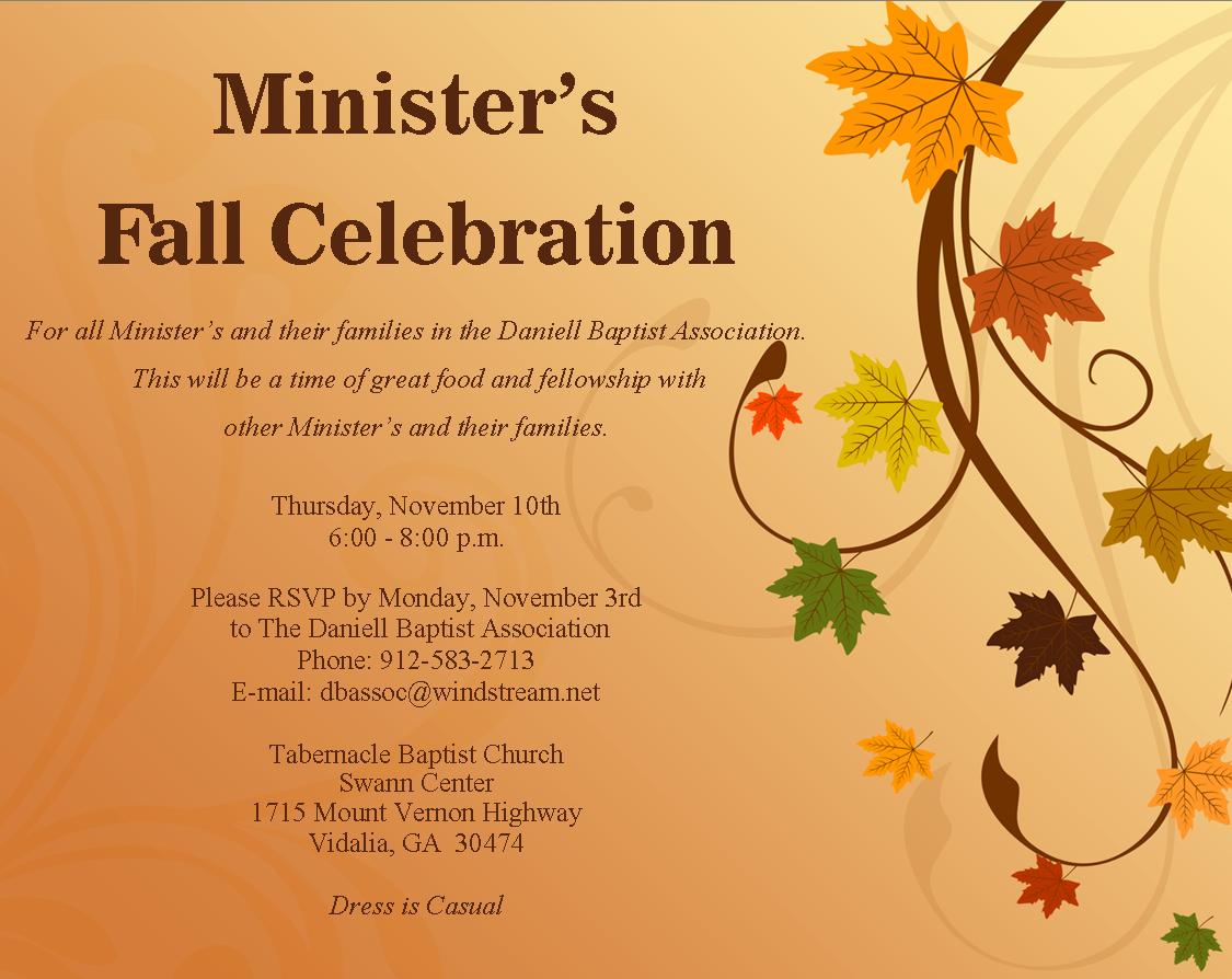 Minister's Fall Celebration